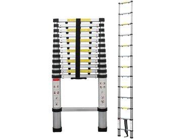 Echelle Telescopique, Échelle Pliable, 3,8 mètre(s), Sac de transport OFFERT, Écart supplémentaire, EN 131-6, Charge maximale: 150 kg