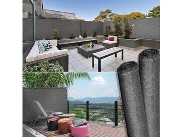 Brise vue haute densité 1,2 x 10 m gris 300 gr/m² qualité pro