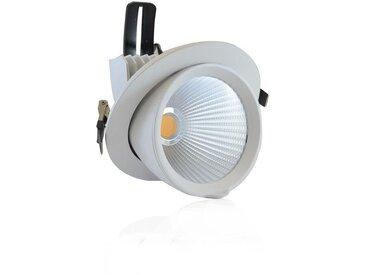 Spot escargot LED COB 30W (270W) Blanc chaud 3000°K Orientable avec alim CL2