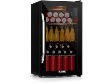 Klarstein Beersafe XXL Onyx réfrigérateur A+ LED 3 grilles en métal porte en verre Onyx