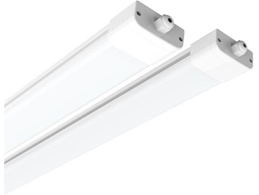 2×Anten 150CM Neon Tube Garage 45W Tube Neon LED Étanche IP65 Regelette LED Anti-Poussière Anti-Corrosion et Anti-Choc Neon LED Lampe Néon Blanc Neutre 4000K