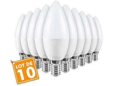 Lot de 10 ampoules E14 5.5W eq 40W | Température de Couleur: Blanc chaud 3000K