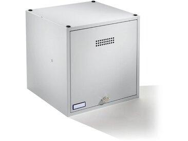 Wolf Casier verrouillable extensible - h x l x p 500 x 500 x 500 mm - pour cadenas, porte gris clair