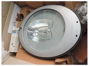 Luminaire extérieur urbain gris 510X400 avec lampe SON 100W E40 fixation mat Ø 76mm ballast ferro CGP430 CITYSOUL PHILIPS 479088