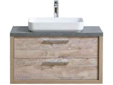 Meuble de salle de bain Indiana 90cm lavabo nature wood – Armoire de rangement Meuble lavabo