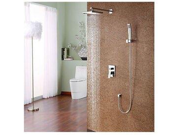 """Robinet de douche moderne avec tête de douche en pluie 8"""" et pomme de douche"""