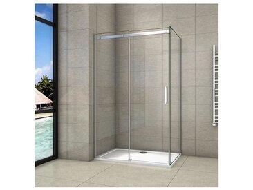 Cabine de douche 150x70x195cm en verre anticalcaire cabine de douche installation d'angle