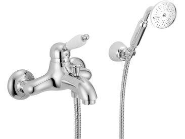 Mitigeur douche avec complet douche Porta & Bini New old 10501 | Nickel Ancien - en teinte