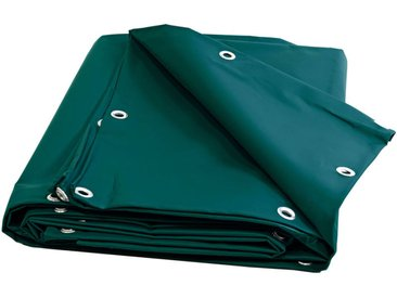 Bâche Brise Vue 680 g/m² - 5 x 6 m - Baches Verte - Brise vent - pare vue - brise vue pvc