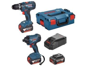 BOSCH Kit 2 outils Perceuse-Visseuse GSR 18V-28 + Visseuse à chocs GDR 18V-160 + 3 batteries 4Ah 0615990K3H