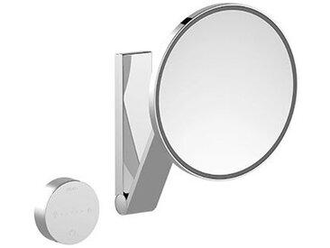 Keuco iLook_move Miroir grossissant, 17612, illuminé, 5 niveaux de luminosité réglables, avec 212 mm, chromé - 17612019002