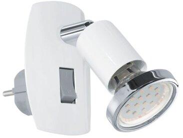 Liseuse prise électrique Mini H10 cm - Blanc - Blanc