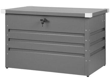 Coffre de jardin gris moderne de 300 litres de capacité