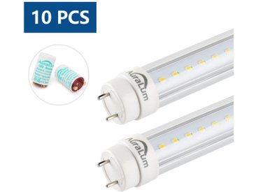 10x Auralum 120cm Tube LED 20Watt T8 G13 Lumière Fluorescente 2100LM LED Tube avec Starters Blanc Naturel 4000K