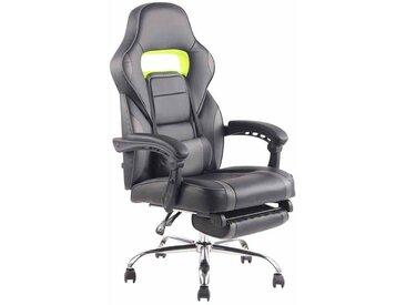 Fauteuil de bureau ergonomique avec repose-pieds extensible accoudoirs noir/gris