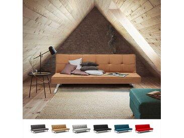 Canapé Clic Clac Convertible en tissu 2 places design moderne GEMMA | Couleur: Beige