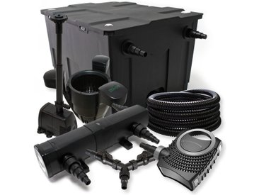 SunSun Kit filtration bassin 60000l 36W Stérilisateur NEO10000 80W Pompe 25m Tuyau Skimmer Fontaine