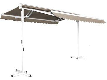 Store double pente avec coffre 3 x 4 m Delgada - Taupe - Taupe
