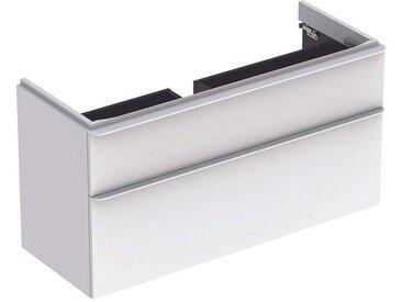 Geberit Meuble sous-lavabo Geberit Smyle Square, 500.355., 1184x617x470mm, avec 2 tiroirs, Coloris: Laque brillante blanche - 500.355.00.1