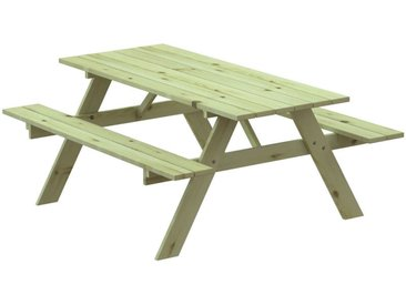 Table Pique-nique en Bois Traité Solid 28 mm Avec Banc 177x151x77 cm 6/8 Personnes