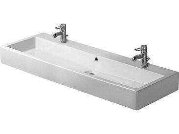 Duravit lavabo Vero 1200mm avec trop-plein, avec table de robinetterie, 2 trous de robinetterie, Coloris: Blanc - 0454120024