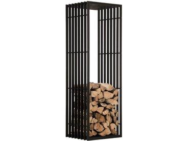 Porte-bûches Irving noir/mat 40x50x150 cm