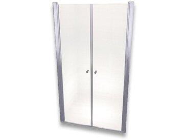 Porte de douche 195 cm largeur réglable 120-124 cm Transparent