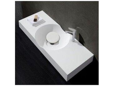 Lavabo Suspendu Rectangulaire - Solid surface Blanc Mat - 100x48 cm - Clas