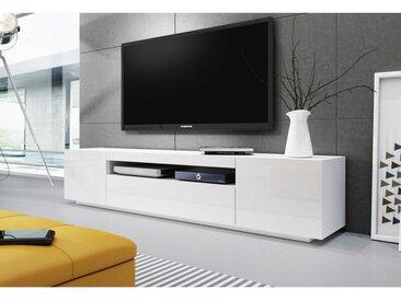 Baltic Meubles - MEUBLE BANC TV BLANC - 2M00 - MOINSCHERCUISINE - BLANC