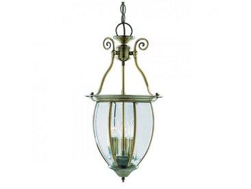 Suspension 27 cm Lanterns, en laiton antique et verre