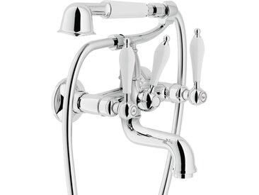Mélangeur de bain externe avec duplex Nobili SERIE ANTICA AT31001 | Chromé