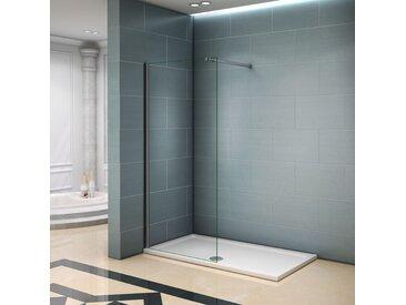 Paroi de douche 90x200cm avec barre de fixation la pince 360 degré 140cm paroi de douche à l'italienne verre anticalcaire