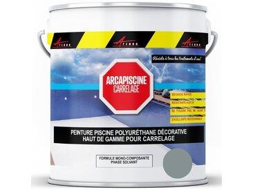 Peinture Piscine pour piscine en carrelage - plus performante qu'une peinture epoxy - ARCANE INDUSTRIES - Gris foncé Piscine (Ral 7001) - 5 kg (jusqu'à 15m² pour les 2 couches)