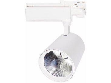 Spot LED sur Rail 40W 80° COB Triphasé BLANC - Blanc Chaud 2300K - 3500K