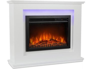Klarstein Salzburg Cheminée électrique chauffage 1000 / 2000W thermostat blanche