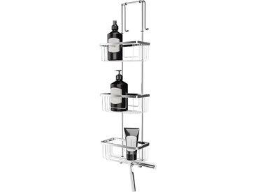 Étagère de douche et salle de bain, à suspendre, 21 x 18 x 75 cm 3 paniers, accessoire en inox, organisateur étagère douche, meuble de rangement, Schulte