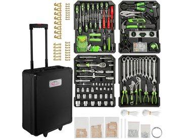 Boite à Outils, Coffret à Outils, Caisse à Outils, Malette, Valise à Outils Trolley en Aluminium 899 Pièces