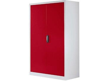 CP Armoire à portes battantes, h x l 1950 x 1200 mm - profondeur 500 mm - coloris portes rouge - Col. tablette: galvanisé|Col. des portes: Rouge