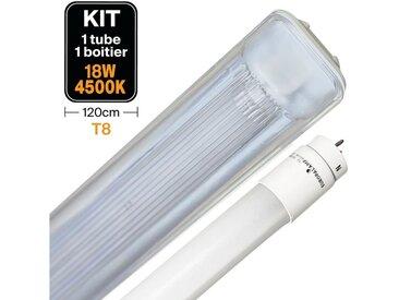 Kit Tube LED T8 18W 4500K + Boitier Etanche 120cm