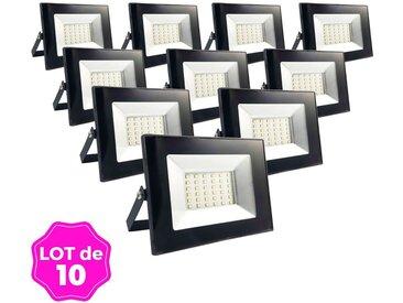 Lot de 10 Projecteurs LED 30W Ipad Blanc chaud 2700K Haute Luminosité