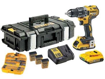 DEWALT Perceuse visseuse 18V 2Ah + 118 accessoires - DCK791D2KX