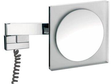 Emco LED rasage et miroir cosmétique, grossissement 5x, angulaire, LED haute puissance, double bras articulé, câble spiralé, prise adaptateur - 109606005