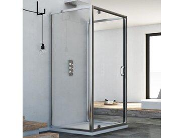 Cabine douche avec 3 côtés 90x100x90 AP. 100 CM H185 trasparent modèle Sintesi Trio avec 1 portillon