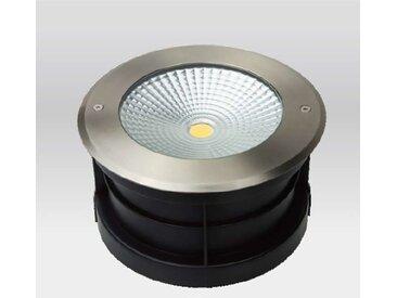 Spot LED Extérieur à enterrer ou encastrer 24W (éclairage 200W) étanche IP67 | Blanc Chaud (3000K)