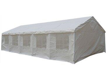 Aleria - Tente De Jardin Pergola 5X10m Toile Blanche Barnum Tonnelle Chapiteau