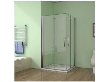 100x76x195cm porte de douche pivotante à charnière avec un receveur correspondant à la dimension de la cabine de douche