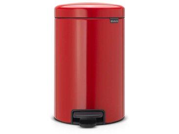 poubelle à pédale 12l rouge - 112003 - brabantia