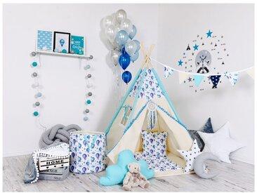 WILLY | Tente de jeu Tipi pour les enfants | Hauteur 160cm | Cabane intérieur extérieur | 8 poteaux pin naturel | Beige