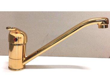 Robinet de cuisine doré en laiton couleur or