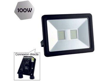 Projecteur Led 100W (Equiv. 800W) 8000 Lm Blanc Neutre (4000K) Ip65 Connexion En Direct